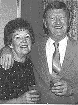 Phyllis and Paul Hewtison enjoy a cocktail in Las Vegas in 1987.
