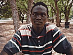 American dream: Santino Majok Chuor is one of the Lost Boys of Sudan.