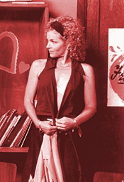 Amy Irving as Mary Ann in Bossa Nova, a sickly sweet movie with nothing but the lush scenery of Brazil to commend it.
