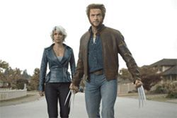 X-cellent send-off: Halle Berry and Hugh Jackman battle for mutant survival in X-Men: The Last Stand.