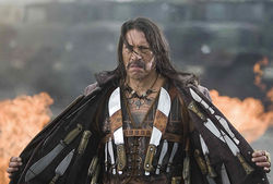 The border crossed him: Danny Trejo is the titular badass in Robert Rodriguez's Machete.