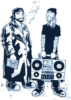 Jay and Silent Bob, as drawn by Jim Mahfood.