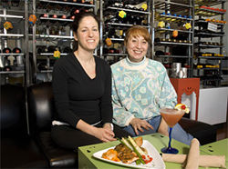 Dynamic duo: Maizie Miller (left) and her mother, Lois, make customers feel at home.