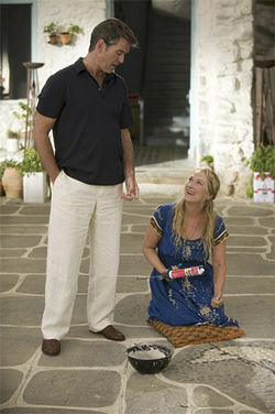 Hippie and dippy: Pierce Brosnan and Meryl Streep do ABBA in Mamma Mia!