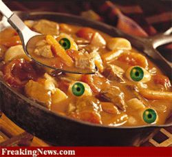 Eyeball Stew, a macabre meal from FreakingNews.com
