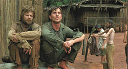 Part McCain, part McClane: Steve Zahn and Christian Bale long for freedom in Rescue Dawn.