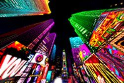 Welcome to the jungle: &quot;Times Square&quot; beckons visitors into a virtual New York.