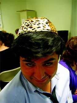 Brown Jew? Najera spots his first Seder.