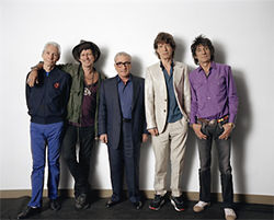 Martin Scorsese (center) brings you the Rolling Stones, in 3-D.