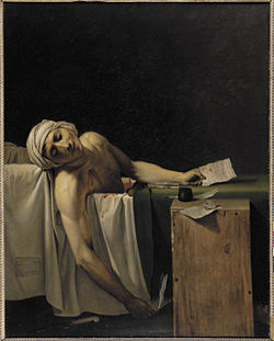 "The Death of Marat by Jacques-Louis Davíd appears in a number of reincarnations in Phoenix Art Museum's ""Masterpiece Replayed."""