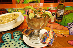 Chill time: A giant seafood cocktail from Mariscos Playa Hermosa makes a refreshing summer meal.