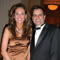 Mullany with Gordon at a black-tie event