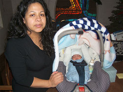 Miriam Mendiola-Martinez and son Angel, born in MCSO custody during Christmas week.