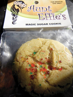 A cannabis-infused cookie