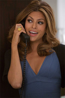 Warm-hearted snake: Eva Mendes lacks the venom of Joan Crawford in the remake of The Women.