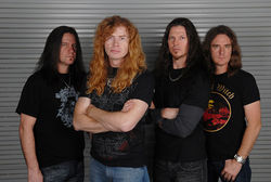 Megadeth: Dave Mustaine (second from left) and a bunch of random dudes who can't compete with Metallica.