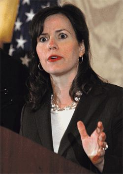 Julie Myers, the politically connected head of ICE, has been widely criticized as unqualified for the job.
