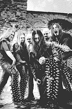 Hell on Earth, with goofy spikes: Dimmu Borgir.
