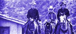 Horse senseless: From left, Matt Damon, Lucas Black and Henry Thomas in All the Pretty Horses.