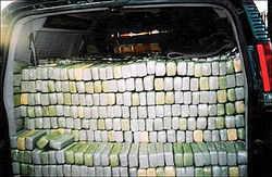 A van loaded with nearly 6,000 pounds of marijuana ran out of gas just before passing through Customs Officer Margarita Crispin's assigned border checkpoint.