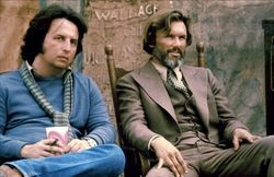 Michael Cimino and Kris Kristofferson on the set of Heaven's Gate.