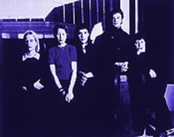 Meanwhile, back at the lab . . . : Stereolab (from left), Morgane Lhote, Mary Hansen, Laetitia Sadier, Simon Johns and Tim Gane.
