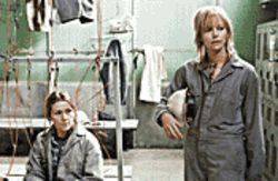 Iron maidens: Frances McDormand (left) and Charlize Theron stand up for women&#039;s rights in North Country.