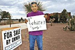 Whites only, please: John Miranda wants to sleep at night.