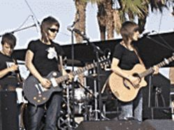 Good day sunshine: Tegan and Sara were one of many acts that triumphed on a bright Coachella afternoon.