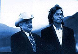 "The ""King of Mountain Soul"" Ralph Stanley with singer-songwiter Jim Lauderdale."