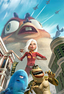Comin&#039; at ya: Heretofore, the 3-D extravaganza Monsters vs. Aliens will be considered a landmark in cinema.