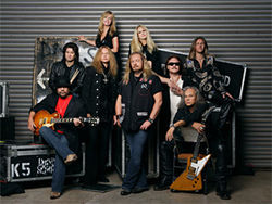 "Lynyrd Skynyrd: How many of these people played on the original ""Free Bird?"""