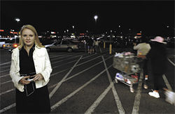 Emily Mitchell, outside the Mesa Wal-Mart where one of her student groups ran a diaper drive to benefit Crisis Pregnancy Center, an anti-abortion group.