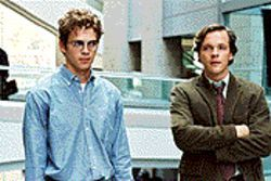 Consider the source: Hayden Christensen (left) portrays an unscrupulous journalist, and Peter Sarsgaard plays the editor who debunked him in Shattered Glass.