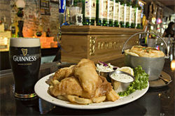 Gone fishing: Kick back with a cold pint and some crispy fish and chips at Murphy's Law.