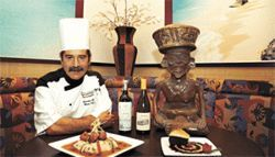 Idol worship: Chef Moises Treves appeases the culinary gods with  his magnificent choco-flan, but not everything on Cocono's bill of fare  is worth the trek to BFE.