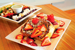 Among fairly standard breakfast and lunch items, Ncounter's French toast is one of the better choices.