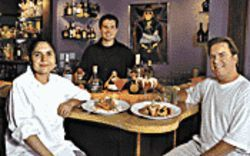 The Dream Team: From left, chef Ivonne Turincio, owner Cole Durbin, and marketing director Denny Durbin.