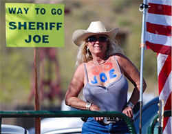 Arpaio fanatic and MCSO-U.S.A. go-between Barb Heller in a photo from her MySpace page.