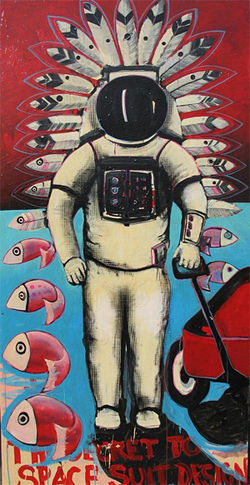 The Navajo Astronaut by Michael Little