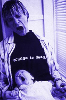 Cobain with daughter Frances Bean.