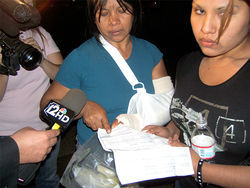 Maria del Carmen Garcia-Martinez's arm was broken in MCSO custody.