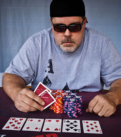 John Schnaubelt, a Valley web designer and poker lover, wants to see off-reservation poker rooms legalized in Arizona.