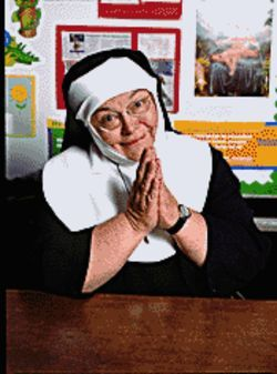Sister act: Patti Hannon gives 'em hell.