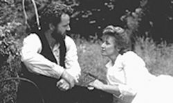 Aidan Quinn and Janet McTeer roam the hills in Songcatcher.