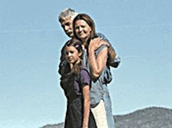 Nowheresville: Clockwise from top, Sam Elliott, Joan Allen and Valentina de Angelis live off the land in Off the Map.