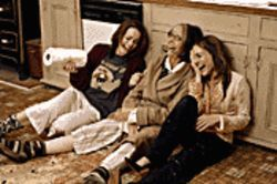 The family that laughs together .  .  .  : From left, Rachel McAdams, Diane Keaton and Sarah Jessica Parker are part of The Family Stone.