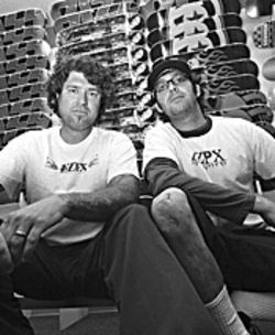 Possessed to skate: Tom Lopez (left) and Rob Locker bring back old-school skate-punk with AZPX.