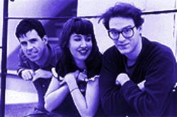 Alert and Alive: The Muffs, from left, Roy McDonald, Kim Shattuck and Ronnie Barnett.