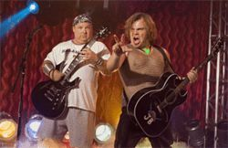 For those about to rock: Kyle Gass (left) and Jack Black kick out the jams in Tenacious D in The Pick of Destiny.